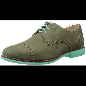 Cole Haan Women's Gramercy Derby Shoe 8.5 Green
